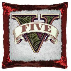 Подушка-хамелеон GTA 5 3D Logo