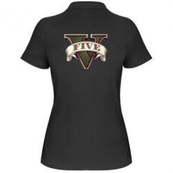 Женская футболка поло GTA 5 3D Logo