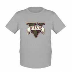 Детская футболка GTA 5 3D Logo - FatLine