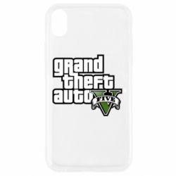 Чехол для iPhone XR GTA V Maine Logo