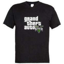 Мужская футболка  с V-образным вырезом GTA V Maine Logo - FatLine