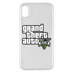 Чехол для iPhone X/Xs GTA V Maine Logo