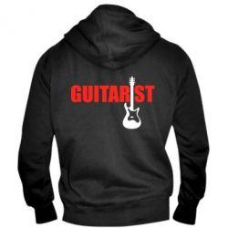 Мужская толстовка на молнии Guitarist - FatLine