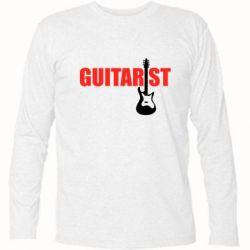 Футболка с длинным рукавом Guitarist - FatLine