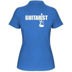 Женская футболка поло Guitarist - FatLine