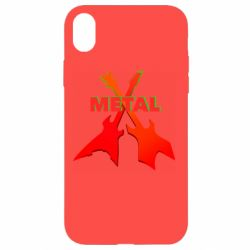 Чехол для iPhone XR Guitars and the inscription Metal