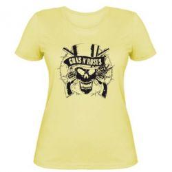 Женская футболка Guns n' Roses Logo - FatLine