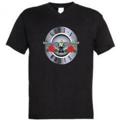 Мужская футболка  с V-образным вырезом Guns n' Roses