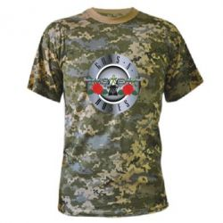 Камуфляжная футболка Guns n' Roses - FatLine