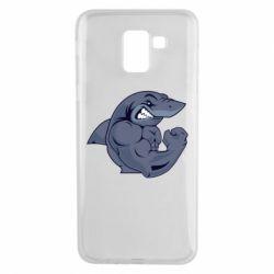 Чохол для Samsung J6 Gym Shark