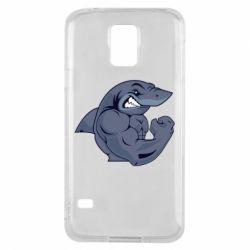 Чохол для Samsung S5 Gym Shark