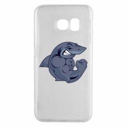 Чохол для Samsung S6 EDGE Gym Shark