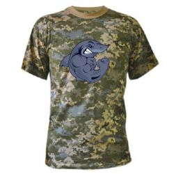 Камуфляжная футболка Gym Shark - FatLine