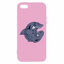 Купить Powerlifting, Чехол для iPhone5/5S/SE Gym Shark, FatLine