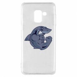 Чохол для Samsung A8 2018 Gym Shark