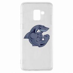 Чохол для Samsung A8+ 2018 Gym Shark
