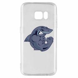 Чохол для Samsung S7 Gym Shark