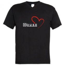 Мужская футболка  с V-образным вырезом H - FatLine