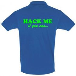 Футболка Поло Hack me if you can - FatLine