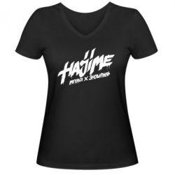Женская футболка с V-образным вырезом Hajime