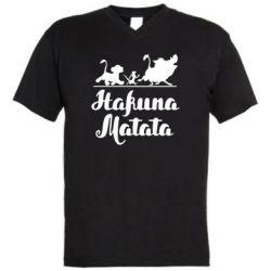 Чоловіча футболка з V-подібним вирізом Hakuna Matata