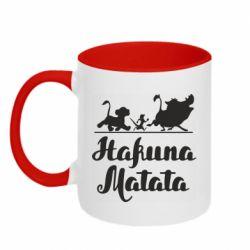 Кружка двоколірна 320ml Hakuna Matata