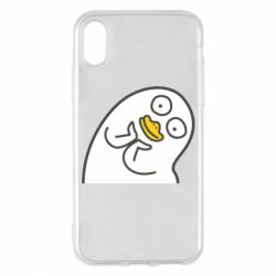 Чехол для iPhone X/Xs Half duck