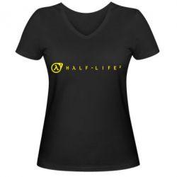 Женская футболка с V-образным вырезом Half-Life 2