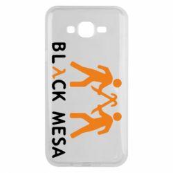 Чехол для Samsung J7 2015 Half Life Black Mesa - FatLine
