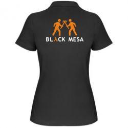 Женская футболка поло Half Life Black Mesa