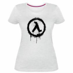 Жіноча стрейчева футболка Half life logo graffiti