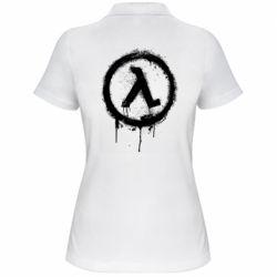 Жіноча футболка поло Half life logo graffiti