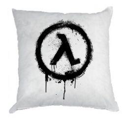 Подушка Half life logo graffiti