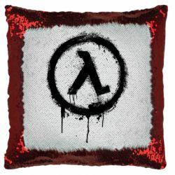 Подушка-хамелеон Half life logo graffiti