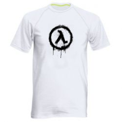 Чоловіча спортивна футболка Half life logo graffiti