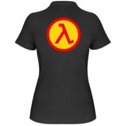 Женская футболка поло Half Life Logo