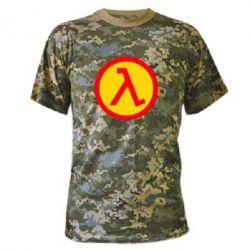 Камуфляжная футболка Half Life Logo