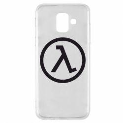 Чехол для Samsung A6 2018 Half Life Logo