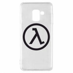 Чехол для Samsung A8 2018 Half Life Logo