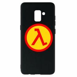 Чехол для Samsung A8+ 2018 Half Life Logo