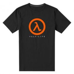 Мужская стрейчевая футболка Half-life logotype