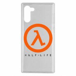 Чехол для Samsung Note 10 Half-life logotype
