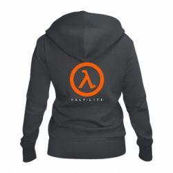 Женская толстовка на молнии Half-life logotype