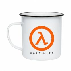 Кружка эмалированная Half-life logotype
