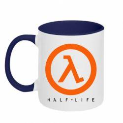 Кружка двухцветная 320ml Half-life logotype