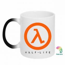 Кружка-хамелеон Half-life logotype