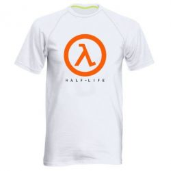 Мужская спортивная футболка Half-life logotype