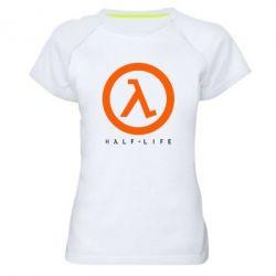 Женская спортивная футболка Half-life logotype