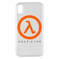 Чехол для iPhone X/Xs Half-life logotype