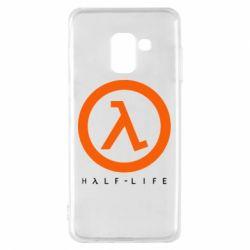 Чехол для Samsung A8 2018 Half-life logotype